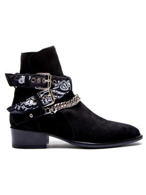 Amiri Amiri bandana buckle boot
