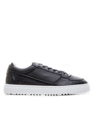 ETQ  Low 3 Black Croc Embossed