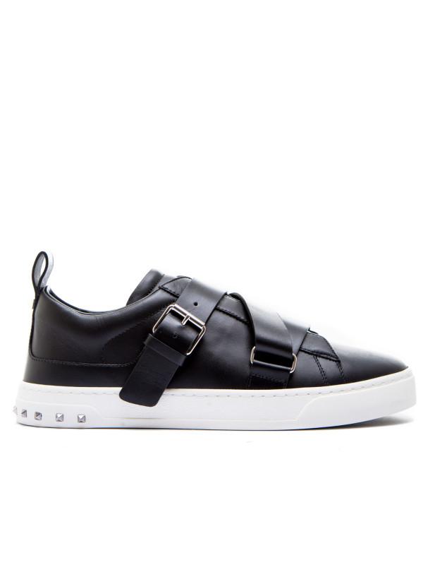 Chaussures Bureau Noir Valentino Bureau Avec Boucle Pour Les Hommes H0HueCrCW