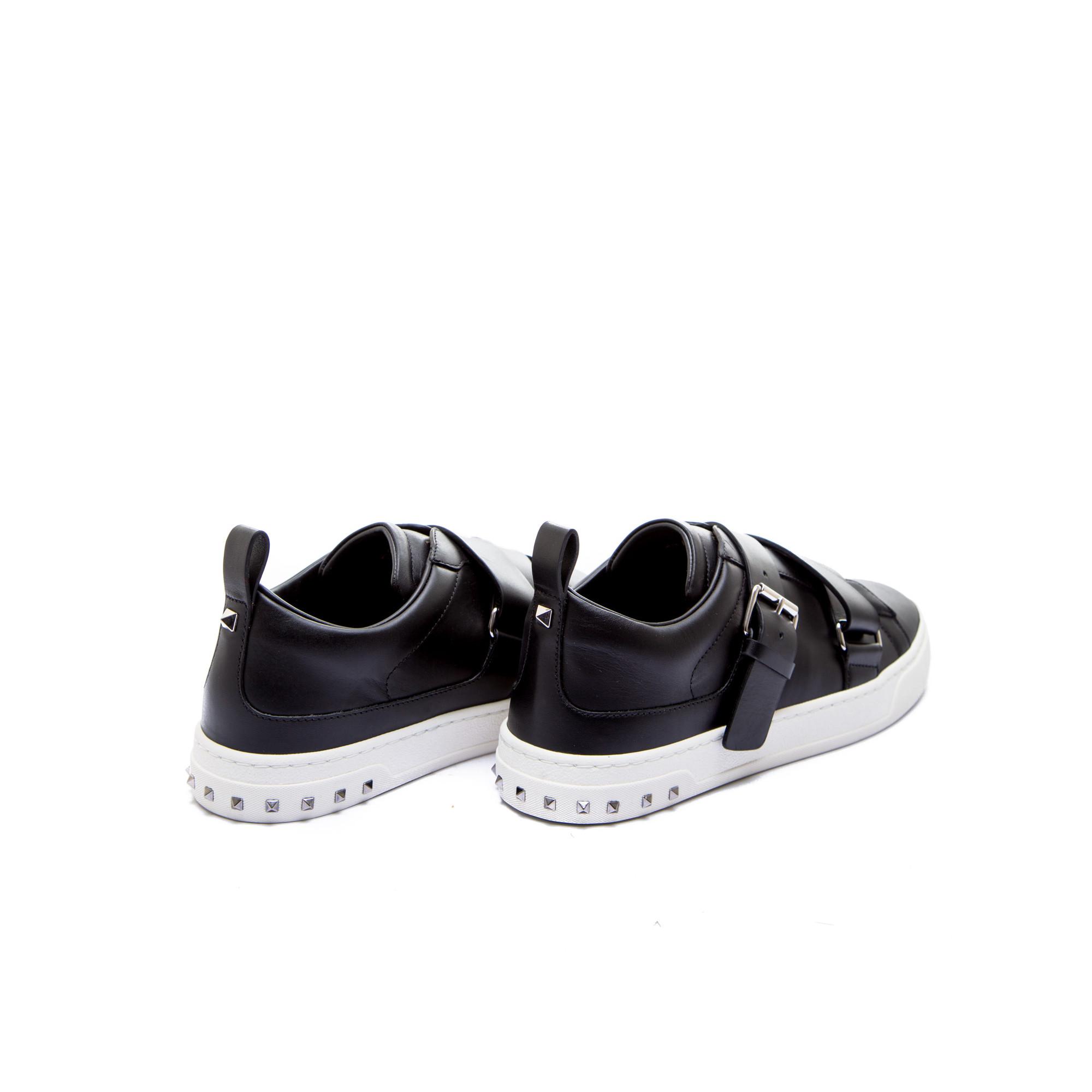 Alexander Mcqueen Chaussures Noires Taille 40 Avec Boucle Pour Les Hommes N1ACyZB