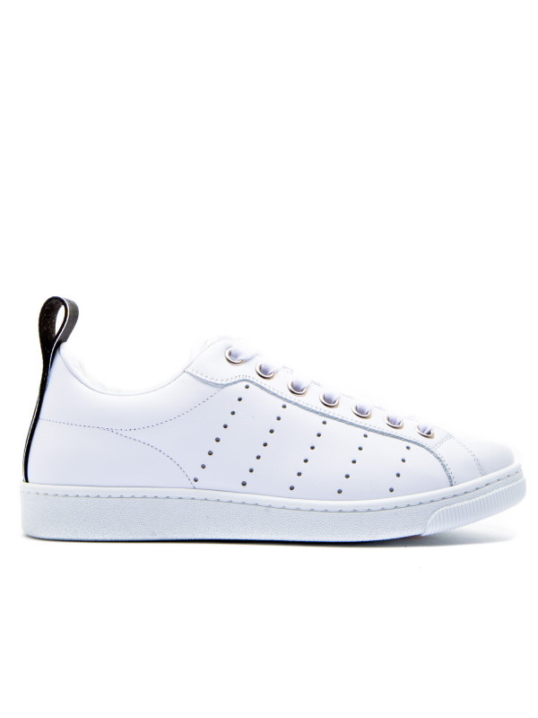 Dsquared2 Sneakers Bordeaux White Shoes For Men Low Prices