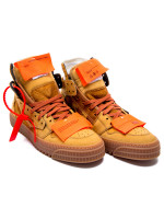 Off White off court sneaker camel