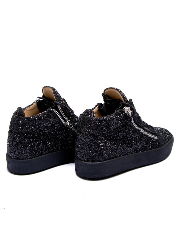 Giuseppe Zanotti sneaker glitter zwart