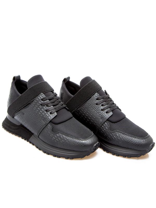 Mallet  elast 2.0 black croc zwart