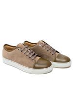 Lanvin captoe low to sneaker beige