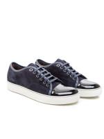 Lanvin captoe low top sneaker blauw