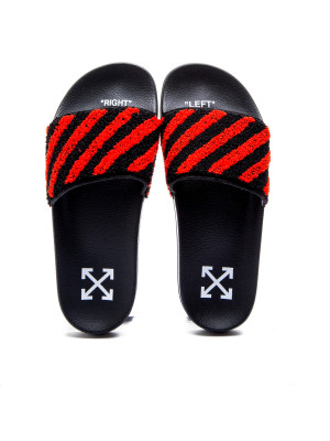 Off White Off White flyknit stripe slide