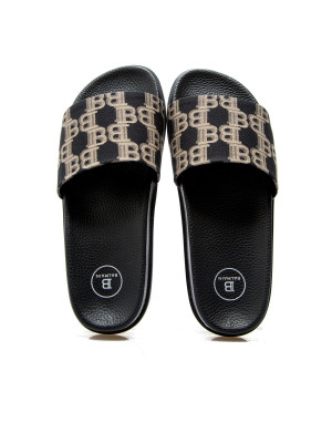 Balmain Balmain flat sandal paton mono