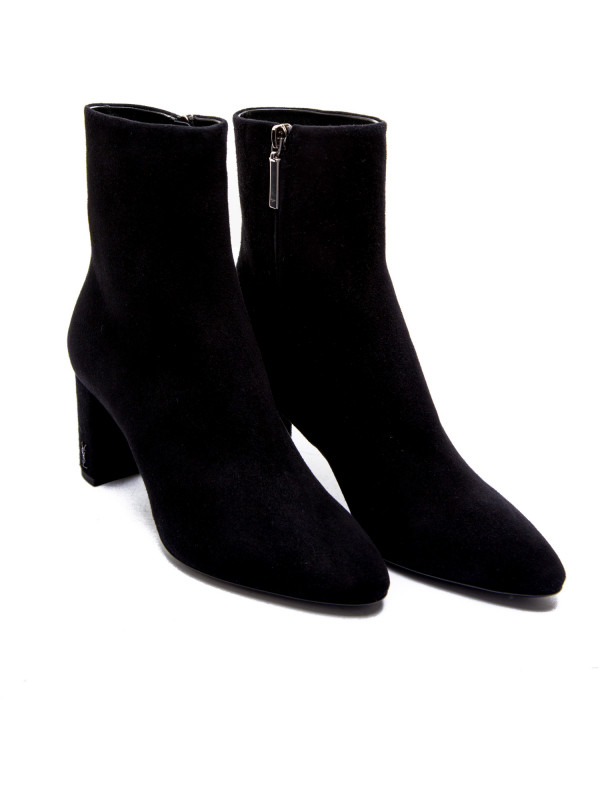 Saint Laurent  lou 70 pin zip bootie zwart
