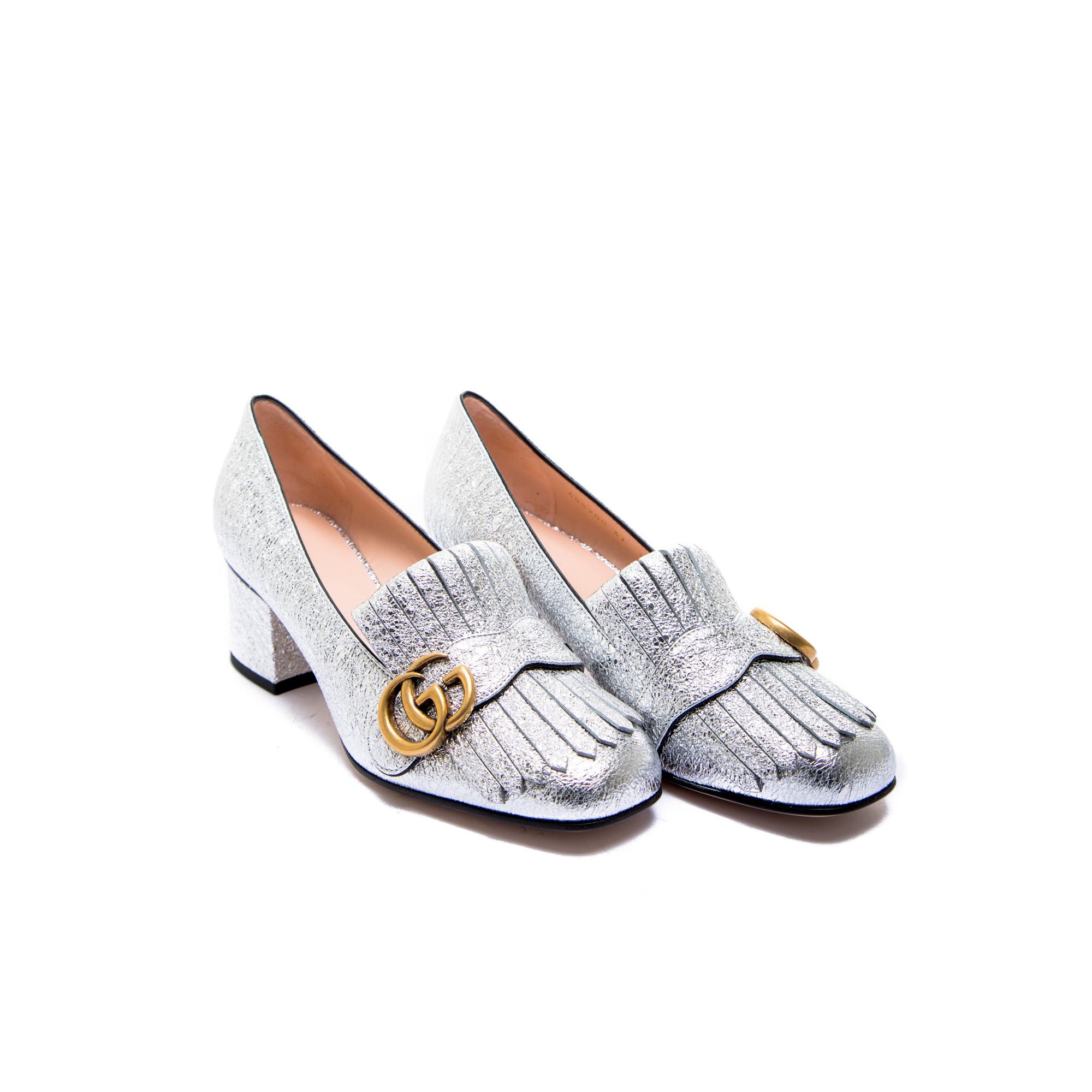Chaussures Gucci Argent Pour Femmes n5VaeY1cbt