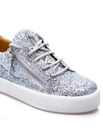 Giuseppe Zanotti sneakers blytter zilver