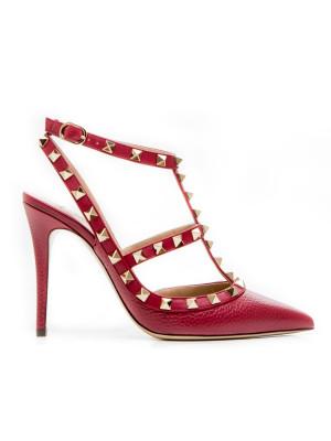 Valentino Valentino red ankle strap