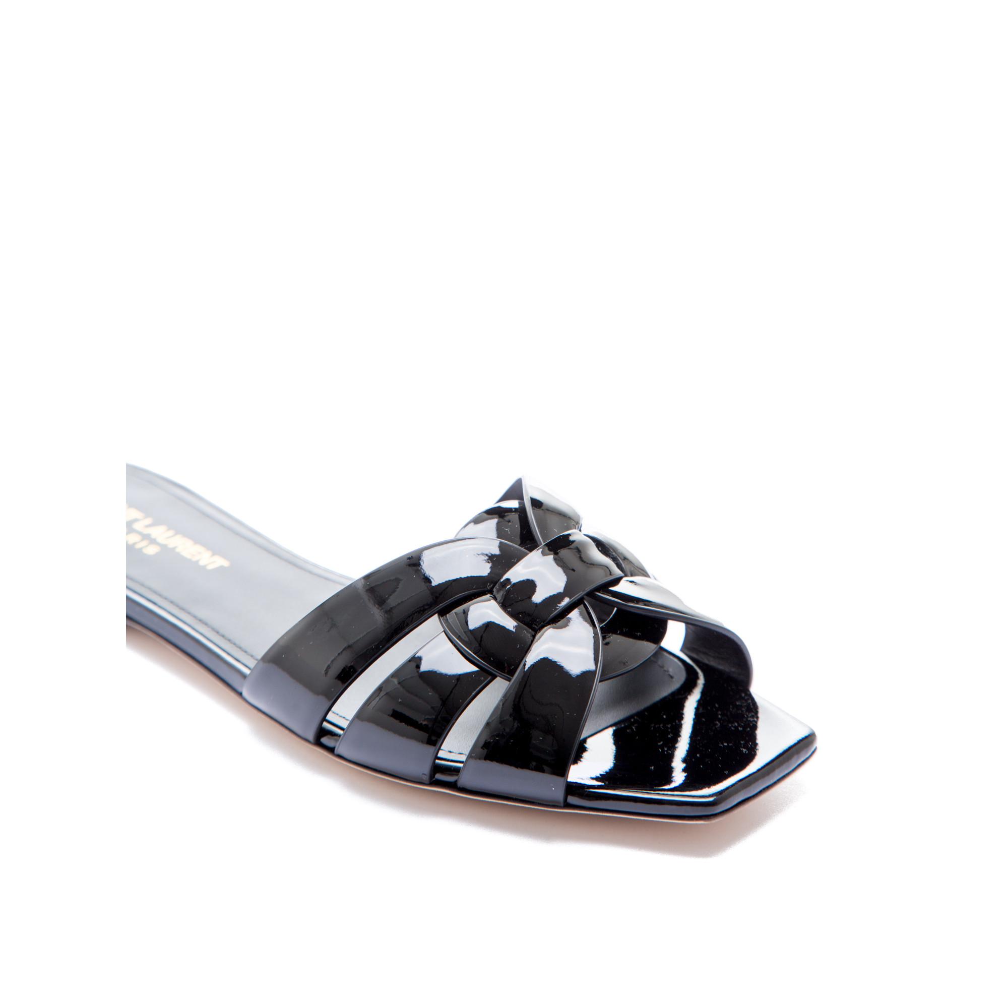 Flat heel sandals images -  Saint Laurent Paris Flat Heel Sandals Black Saint Laurent Paris Flat Heel Sandals Black Www