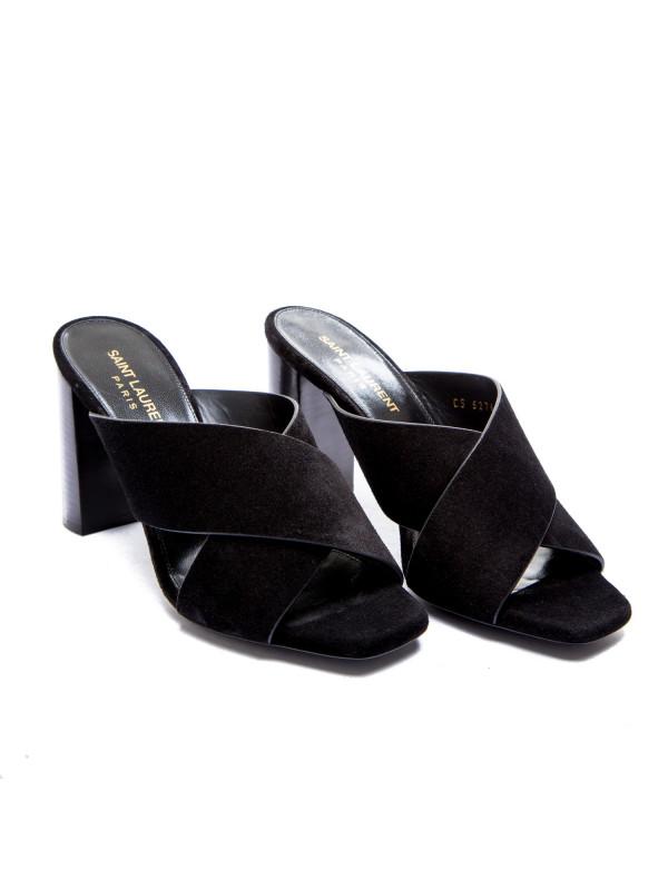 Saint Laurent loulou 95 mule sandal zwart