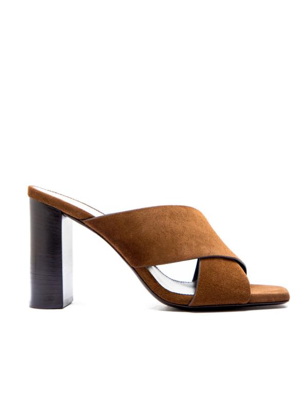 Saint Laurent loulou 95 mule sandal bruin
