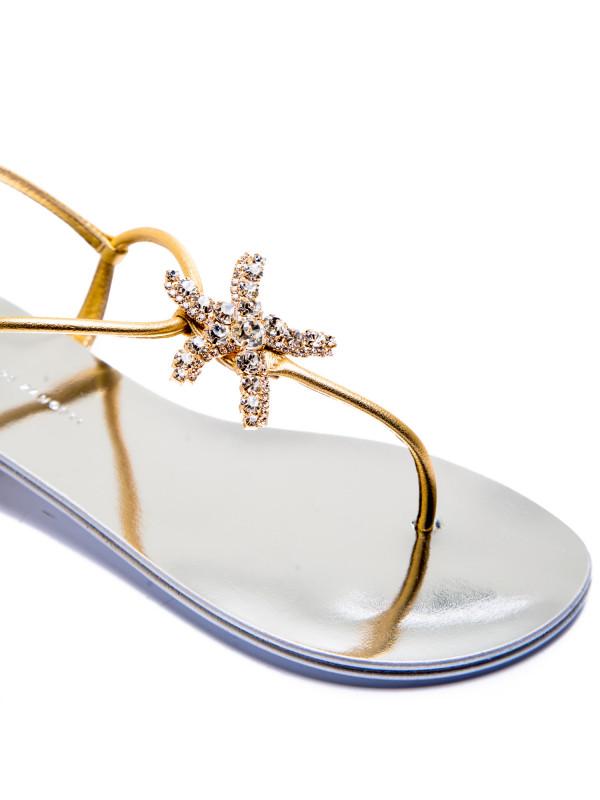Giuseppe Zanotti metal sandalo goud
