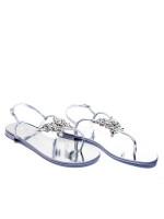 Giuseppe Zanotti metal pia sandalo zilver