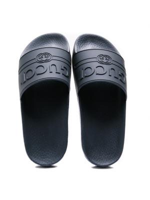 Gucci Gucci logo rubber slide sandal
