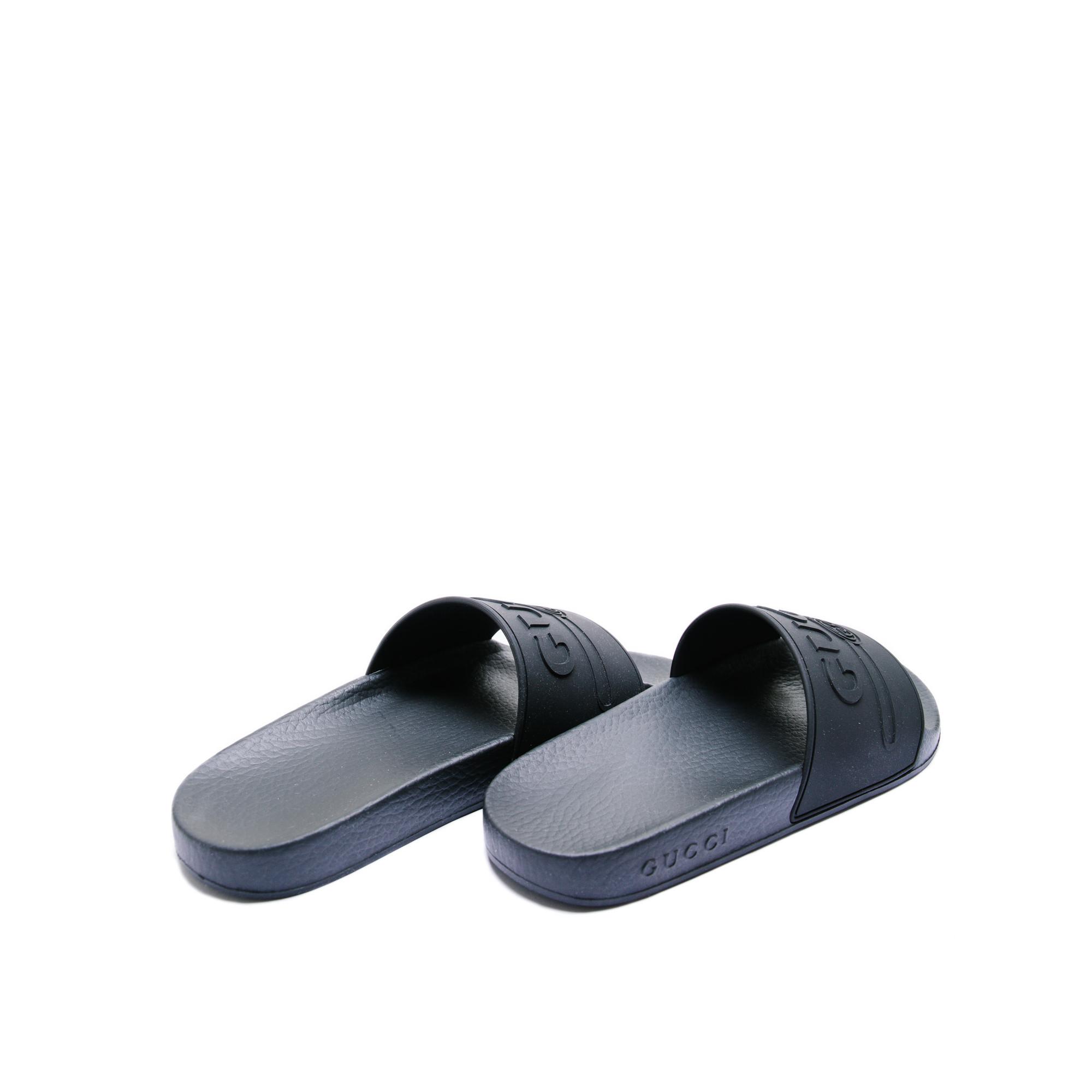 e1baac1a353b22 ... Gucci logo rubber slide sandal black Gucci logo rubber slide sandal  black - www.derodeloper ...