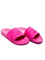 Gucci logo rubber slide sandal roze