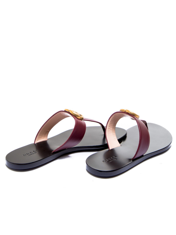 Gucci sandals lifford bordeaux