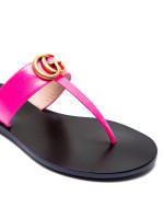 Gucci sandals new pigprint roze
