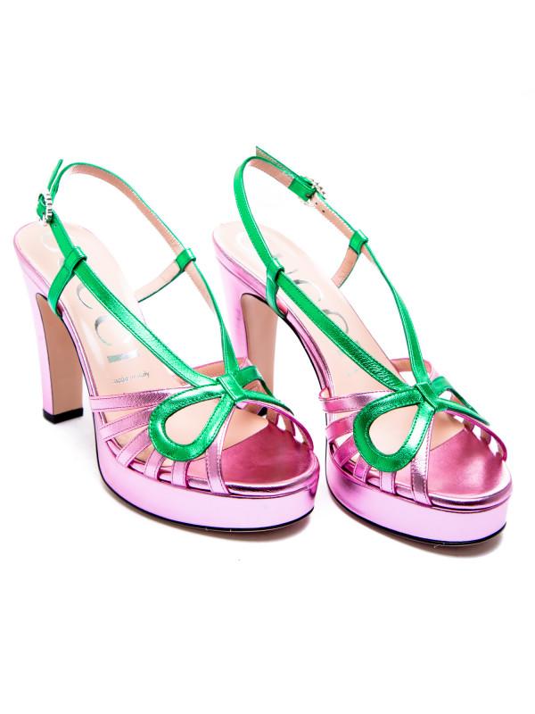 Gucci sandals nappa silk multi