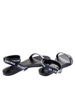 Balenciaga leather sanldal zwart