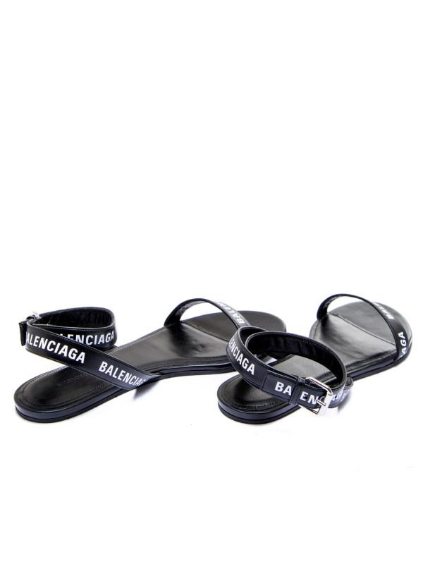 Balenciaga leather sandal zwart