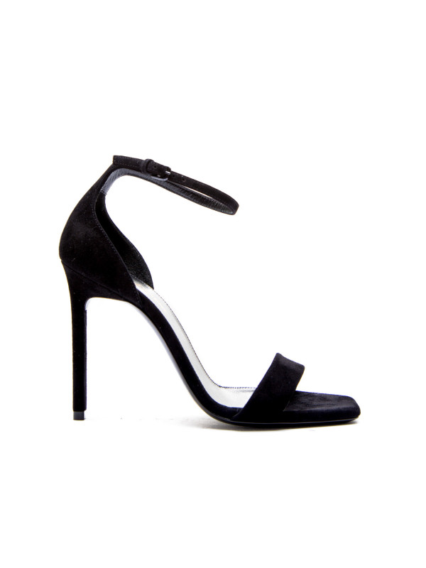 Saint Laurent high heel leather sandal zwart