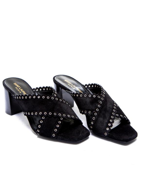 Saint Laurent sandals loulou 70 eyel mu zwart
