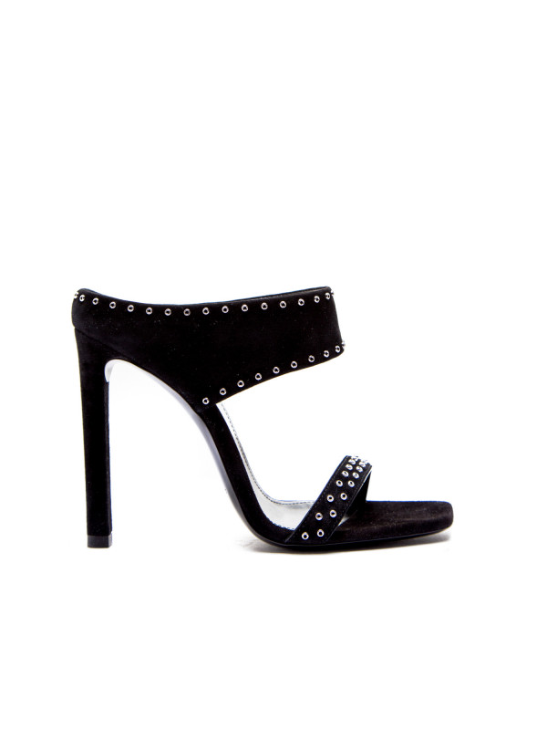 Saint Laurent sandals mica 105 stud mule zwart