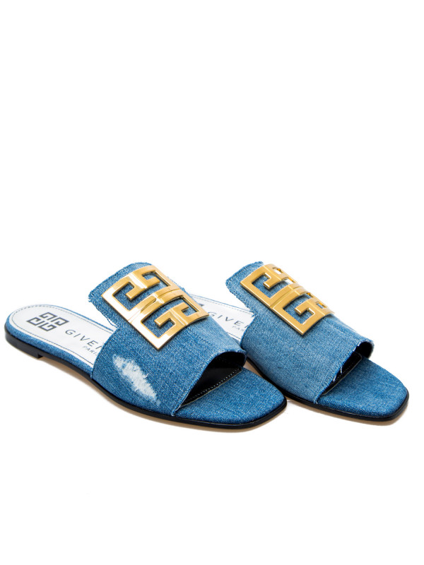 Givenchy 4g Flat Sandal Blauw | Derodeloper.com