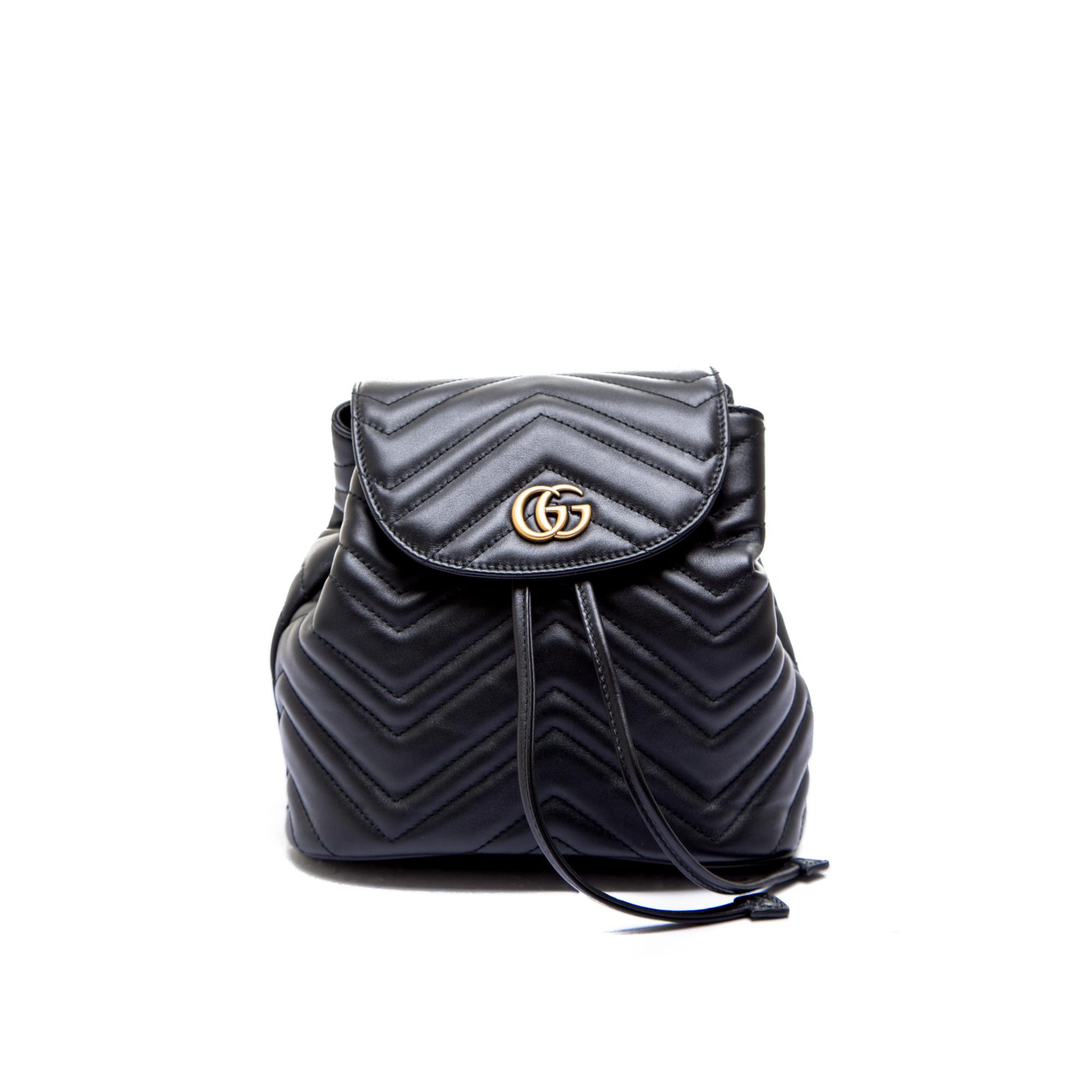 ce06e452bda250 Gucci backpack gg marmont black528129 / drw4t / 1000 ss19