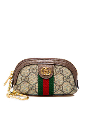 Gucci Gucci key case with zip ophidi