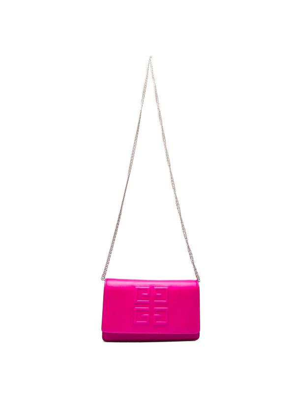 Givenchy emblem chn wallet roze
