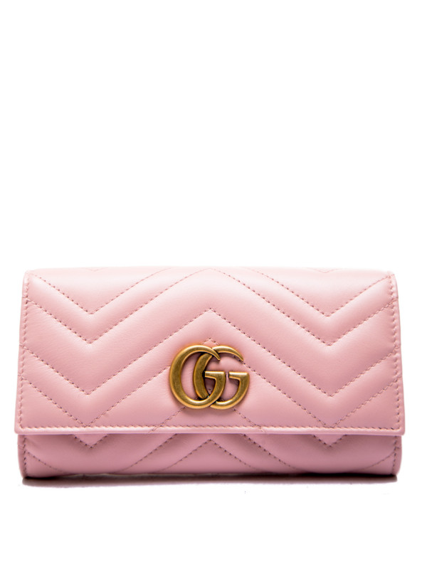 Gucci wallet(271m)gg marmont roze