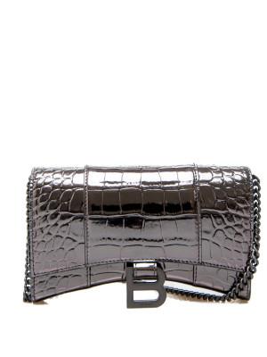 Balenciaga Balenciaga wallet + chain silver