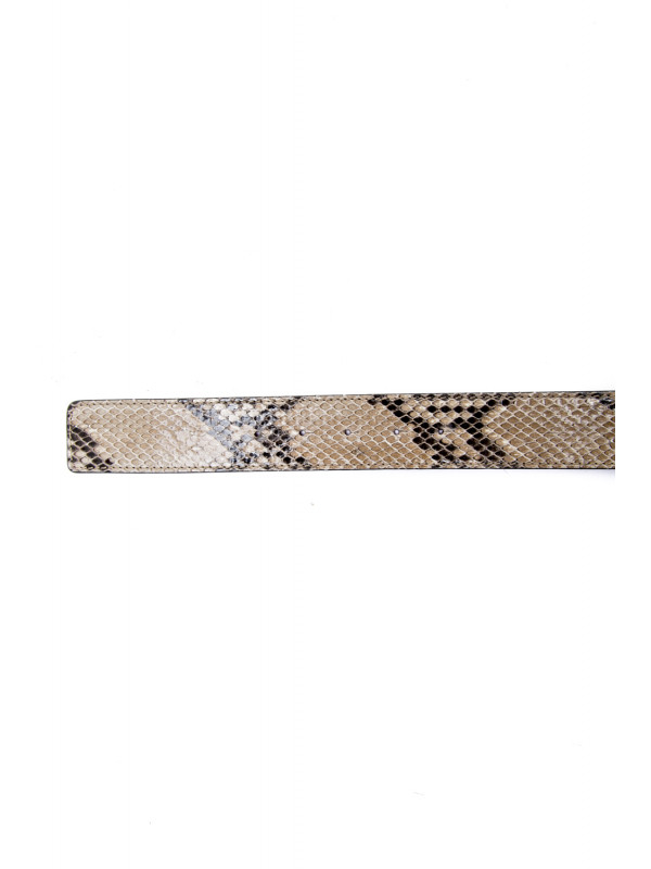 Royaums yves python gold bckl beige