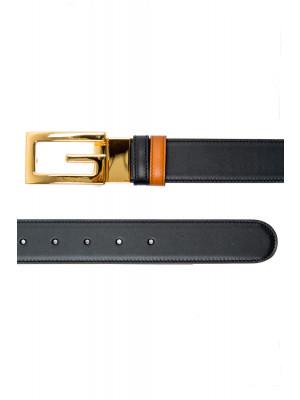 Gucci Gucci rev belt square g buckle