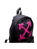 Off White arrows backpack zwart
