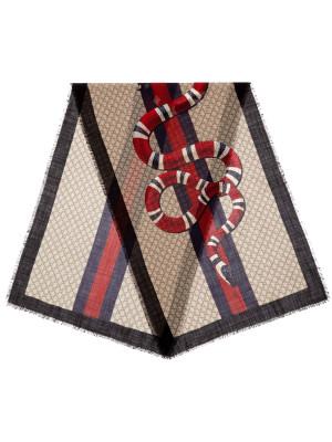 Gucci Gucci scarf web snake 70x200