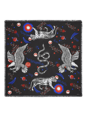 Gucci Gucci scarf space animals