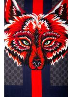 Gucci scarf gg wolf web 70x200 multi