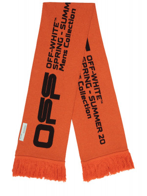 Off White Off White wavy line logo scarf