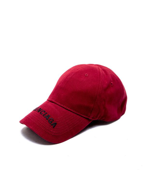 Balenciaga hat logo visor cap bordeaux