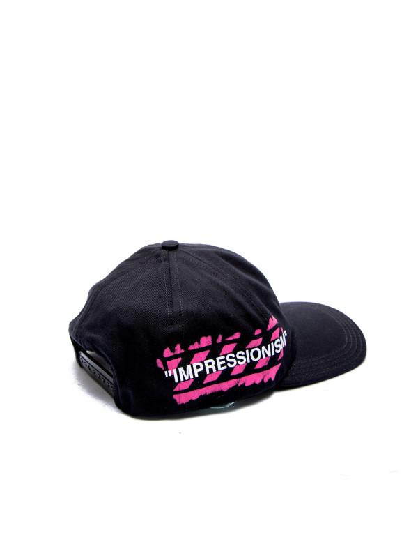 Off White stencil baseball cap zwart