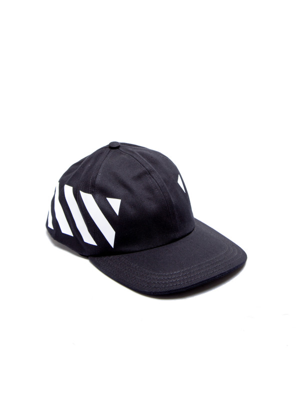 Off White diag baseball cap zwart