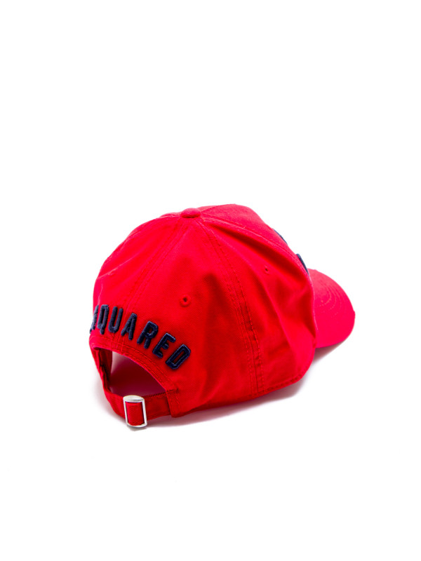 Dsquared2 baseball cap icon rood