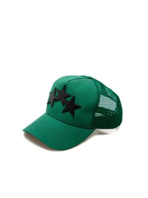 Amiri Amiri 3 star trucker hat green